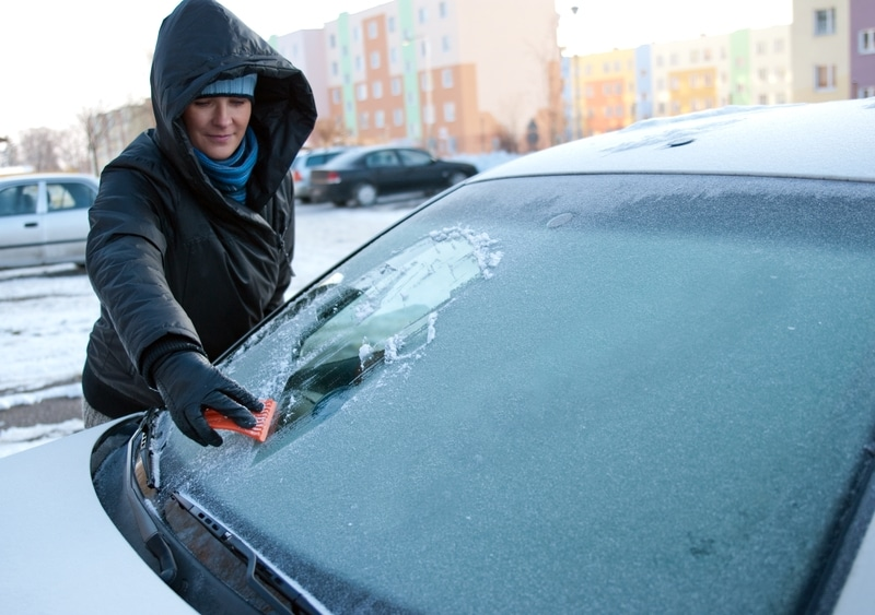 De-icing your windscreen could invalidate your car insurance