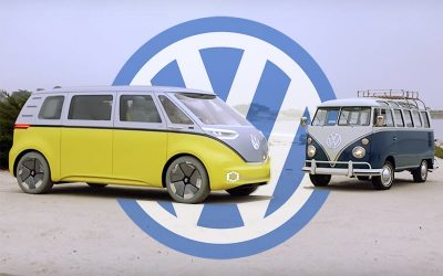 the vw bus is back and its all electric wide image