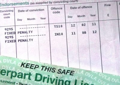 Hiding license points might invalidate insurance policy