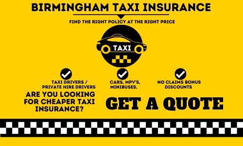 Birmingham Taxi Insurance