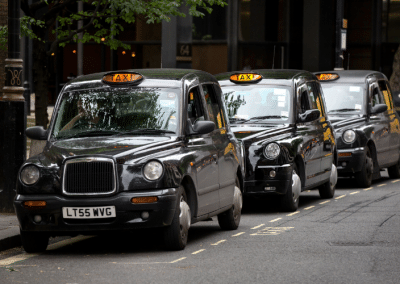 London's Taxis Parked Due To Lockdown 2